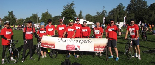 Woodward Estate Agents cycle team 2015 for Children with Cancer UK