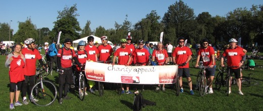 Woodward Estate Agents Harrow on the Hill cycle charity team