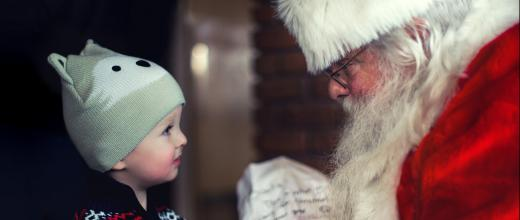 Santa and little boy